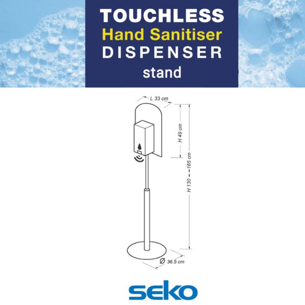 Seko Adjustable Dispenser Stand Spec
